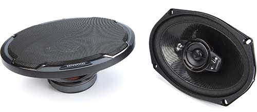 "KENWOOD 6""x9"" 5-way car speakers"