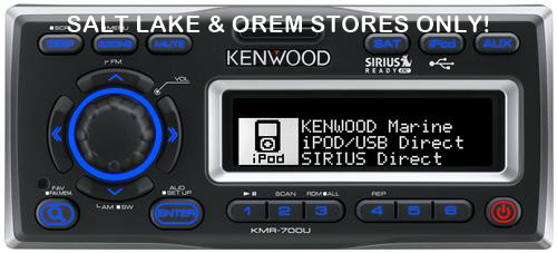 KENWOOD MARINE I-POD/USB RECEIVER WITH IPX5 PROTECTION