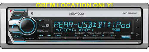 KENWOOD Single DIN Bluetooth In-Dash CD/AM/FM Marine Stereo Receiver w/ Siri Eyes Free and Android AOA