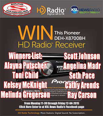 KSL News Radio - Pioneer Radio Giveaway Winners List