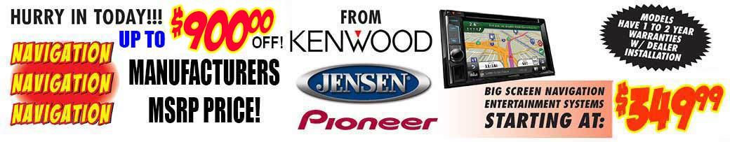 Kenwood Navigation Entertainment Systems starting at $599.99