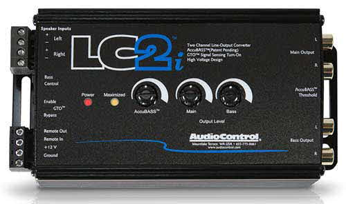 AudioControl 2-channel line output converter for adding amps to your factory system