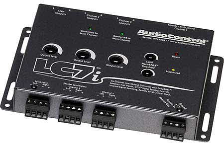 AudioControl 6-channel line output converter with bass restoration � add amps to your factory system