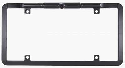 ECHOMASTER CCD Slim Full Frame License Plate Backup Camera Black