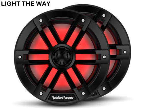 "ROCKFORD FOSGATE M1 Series 8"" Color-Optix� marine speakers (Black)"