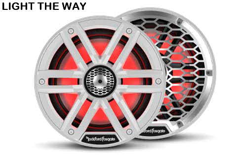 ROCKFORD FOSGATE 6.5� Color Optix� Marine 2-Way System - White
