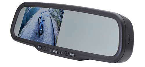 ECHOMASTER 4.3� Factory Mount Mirror Monitor with Built-In DVR