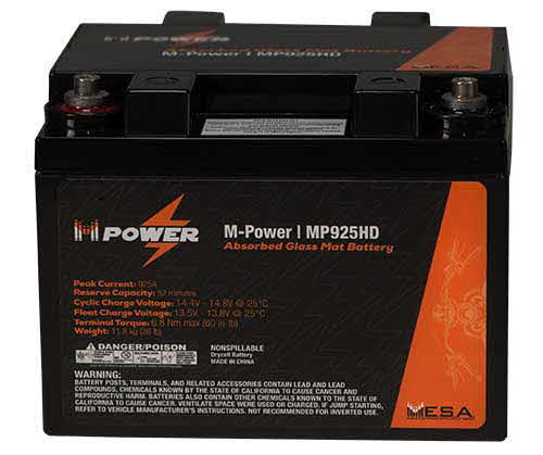 MESA Power Harley-Davidson Direct Replacement Battery
