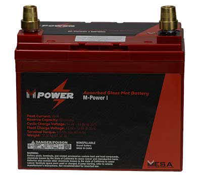 MESA Power 12v Dry Cell Valve Regulated Lead Acid Battery