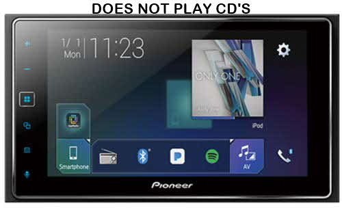 "PIONEER Double DIN and Apple CarPlay In-Dash Digital Media Car Stereo Receiver, 6.2"" Touchscreen"