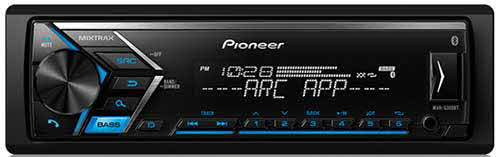 PIONEER - Single DIN Bluetooth In-Dash AM/FM/Digital Media Car Stereo Receiver w/ Dual Phone Connection