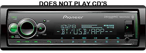 PIONEER - Digital Media Receiver with Enhanced Audio Functions, Pioneer Smart Sync App, MIXTRAX®, Built-in Bluetooth®, and SiriusXM-Ready™