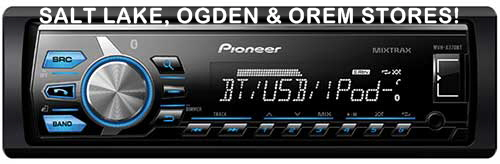 PIONEER - Single DIN Bluetooth In-Dash Digital Media Receiver w/ MIXTRAX and Shallow Mount Chassis