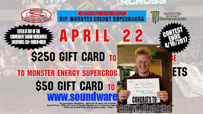 Monster Energy Supercross SW Sweepstakes 2017 winner