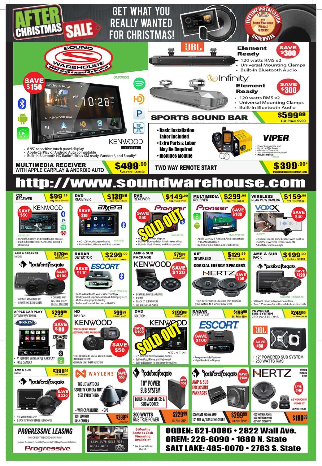 Deals Closeouts Sound Warehouse Utah Rockford Fosgate Punch 45 2 Sale Rockin Holiday 2018