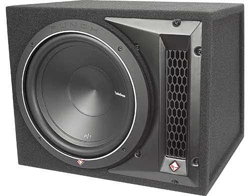 "ROCKFORD FOSGATE 500W Peak, Punch P1 Single 12"" Subwoofer Loaded Enclosure"