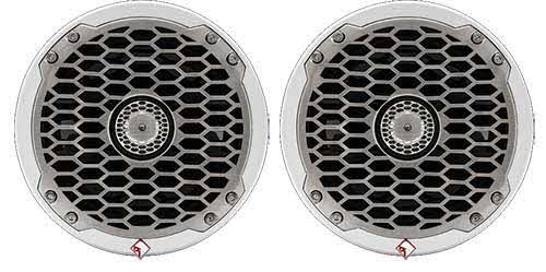 "ROCKFORD FOSGATE Punch Marine 6.5"" Full Range Speakers -White"