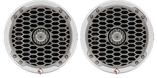"ROCKFORD FOSGATE Punch Marine 6.5"" Full Range Speakers - White"