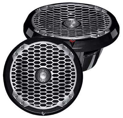 "ROCKFORD FOSGATE 8"" Full-Range Marine Speakers in Black"