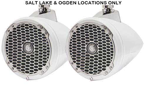 "ROCKFORD FOSGATE 400W 8"" Punch Series Wakeboard Tower Speakers (White)"