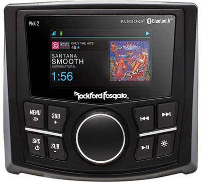 "ROCKFORD FOSGATE Compact AM/FM/WB Digital Media Receiver 2.7"" Display"