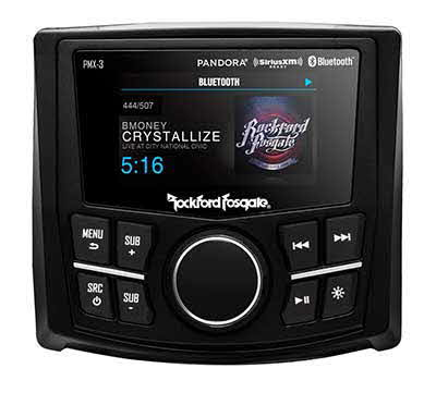 "ROCKFORD FOSGATE Compact Digital Media Receiver w/ 2.7"" Display"