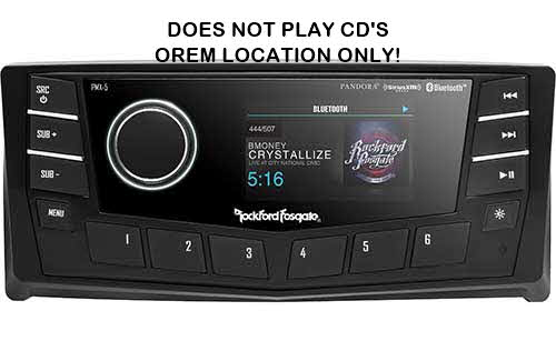 "ROCKFORD FOSGATE Punch Marine/Motorsport AM/FM/WB Digital Media Receiver 2.7"" Display w/ CAN bus"