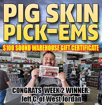 Pig Skin Pick-ems winner week #2 - Jeff C. of West Jordan