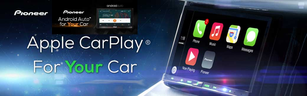 Apple Car Play, available on select Pioneer Models!