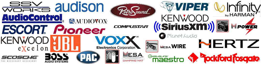 Sound Warehouse proudly sells products from these fine manufacturers!