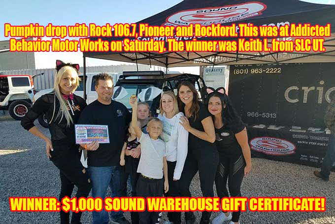Pumpkin drop winner at ABMW with the rock-106.7
