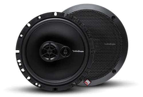 "ROCKFORD FOSGATE 90W 6.5"" 3-Way PRIME Series Coaxial Speakers w/ Silk Tweeters"