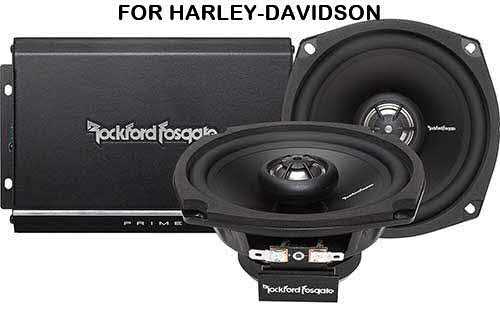 ROCKFORD FOSGATE Prime Series 2-channel amplifier/speaker system for select1998-2013 Harley-Davidson motorcycles