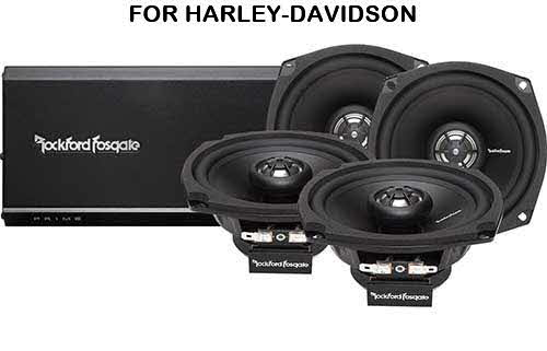 ROCKFORD FOSGATE Prime Series 4-channel amplifier/speaker system for select 1998-2013 Harley-Davidson motorcycles