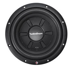 "ROCKFORD FOSGATE Prime R2 Series 10"" shallow subwoofer with dual 4-ohm voice coils"