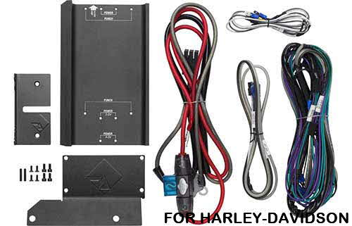ROCKFORD FOSGATE Install Kit for Punch & Power Amplifiers into select 1998 to 2003 Harley Davidson Motorcycles