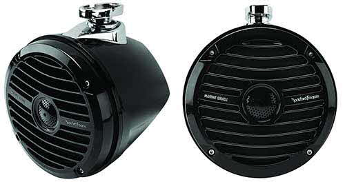 "ROCKFORD FOSGATE Prime Marine 6.5"" Mini Wakeboard Tower Speaker - Black"