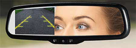 VOXX Replacement rear-view mirror with 4.3-inch high brightness monitor