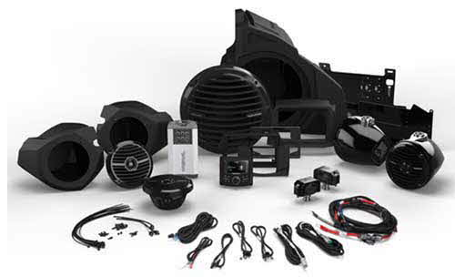 ROCKFORD FOSGATE 400 Watt Stereo, Front and Rear Speaker, and Subwoofer Kit for Select Polaris� RZR� Models