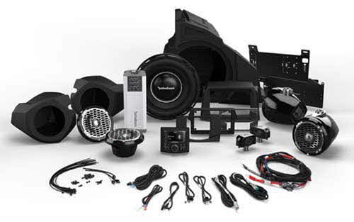 ROCKFORD FOSGATE 1,000 Watt Stereo, Front and Rear Speaker, and Subwoofer Kit for Select Polaris� RZR� Models