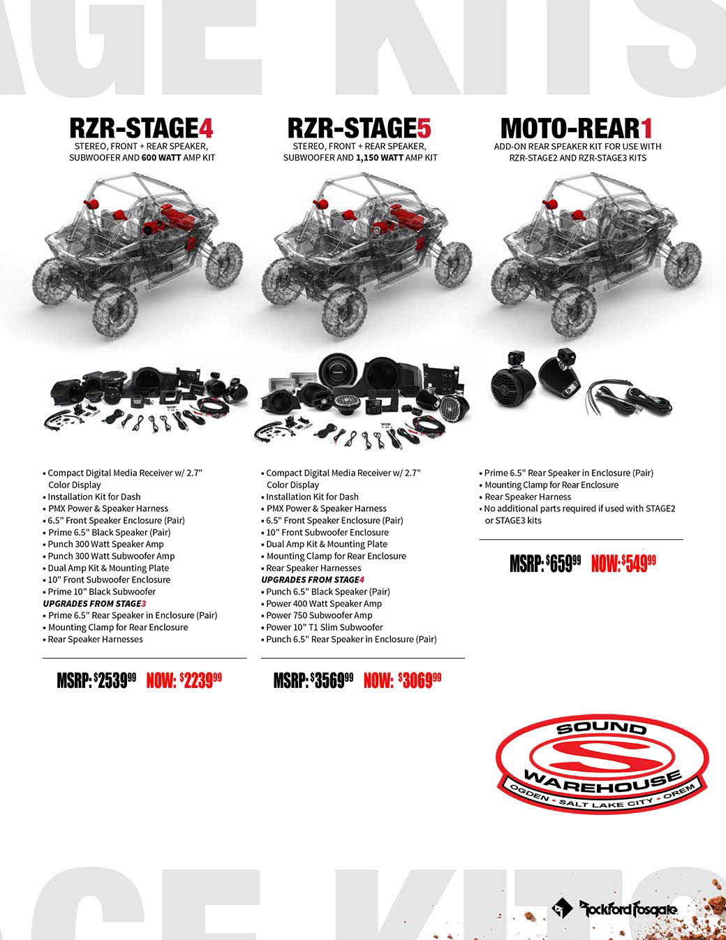 Rzr Utv Parts Wiring Diagram 300watt Subwoofer Power Amplifier Solution Pricesheet Sema Web 3b
