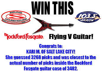 Congrats to Kari M. of Salt Lake City - Winner of the Rockford Guitar Contest