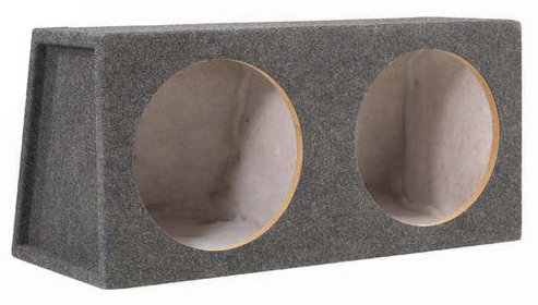 SCOSCHE 12� SEALED DUAL SUBWOOFER ENCLOSURE
