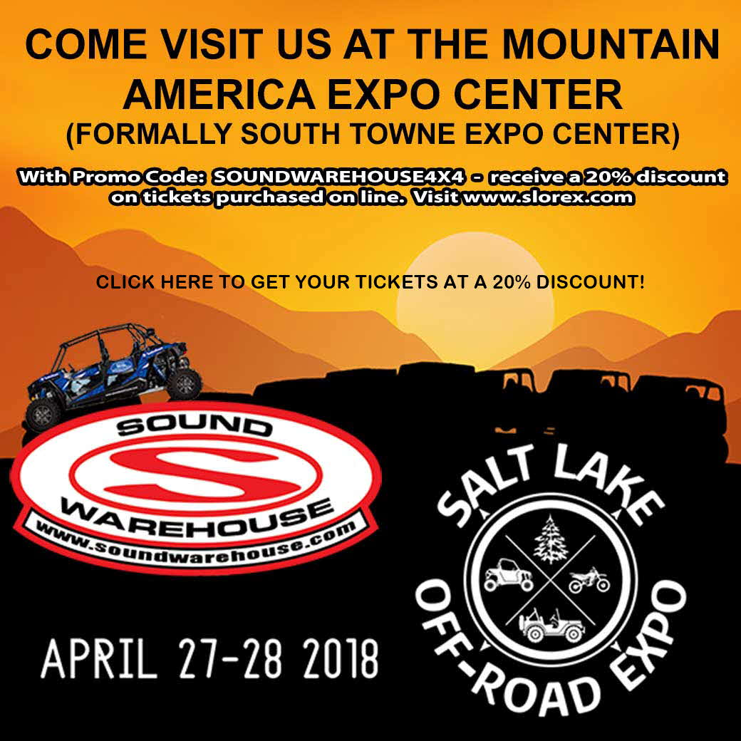 Salt Lake Off Road Expo - Click here to get 20% discount on tickets!