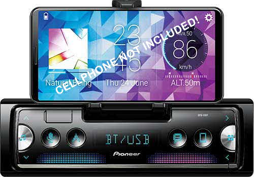 PIONEER - Pioneer Smart Sync Smartphone Receiver Featuring Built-In Cradle for Smartphone, Enhanced Multimedia Functions, USB Port and Built-in Bluetooth®