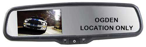 CRIMESTOPPER REPLACEMENT STYLE REAR VIEW MIRROR MONITOR WITH 3.5� LCD DISPLAY