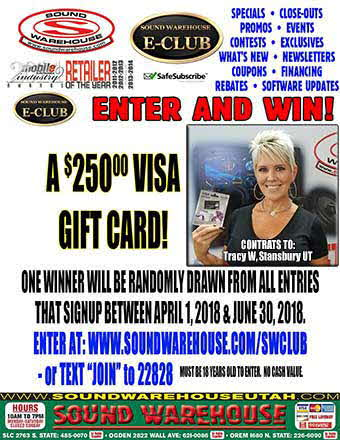 SWClub 2nd Quarter Contest Winner Tracy W. of Stansbury Utah