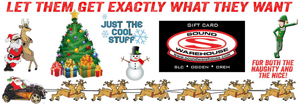 Get the Sound Warehouse Gift Card - Available now in all 3 locations!