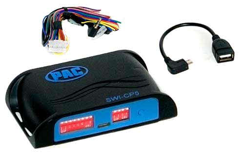 PAC Universal Analog/CAN-Bus Steering Wheel Control Interface With Smart Phone/PC App Programmability