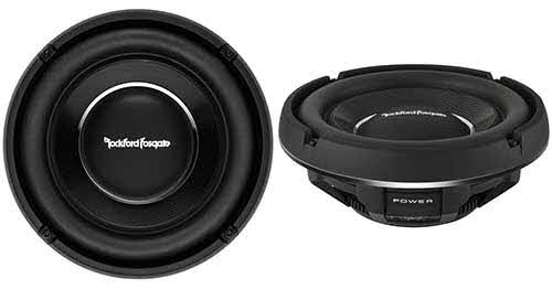 "ROCKFORD FOSGATE 10"" Slim Power T1 Single 2-Ohm Subwoofer"